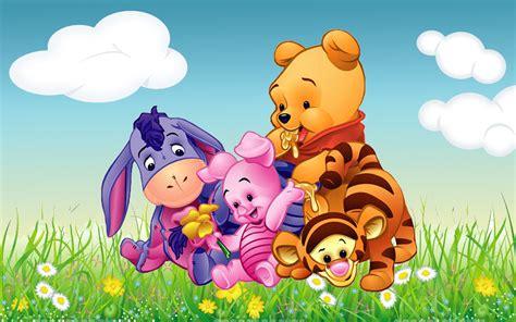 Cartoon Winnie The Pooh Tigger Piglet And Eeyore Babies Hd