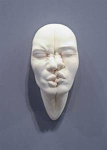 Stretched, And, Contorted, Porcelain, Face, Sculptures, By