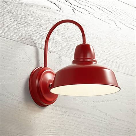 urban barn collection 13 quot high red outdoor wall light