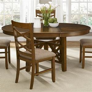 Round, Dining, Table, With, Leaf, Butterfly