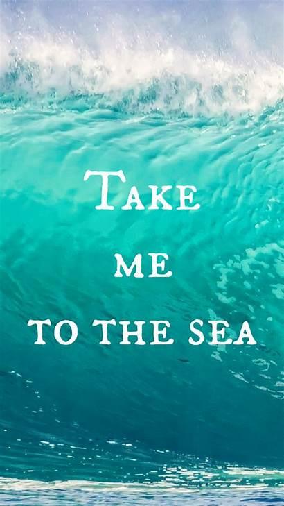 Iphone Wallpapers Mermaid Ocean Quote Backgrounds Sea