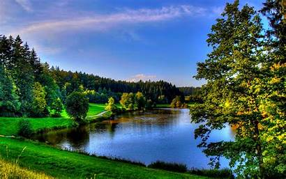 Spring Nature Wallpapers Water Places Widescreen Reflection