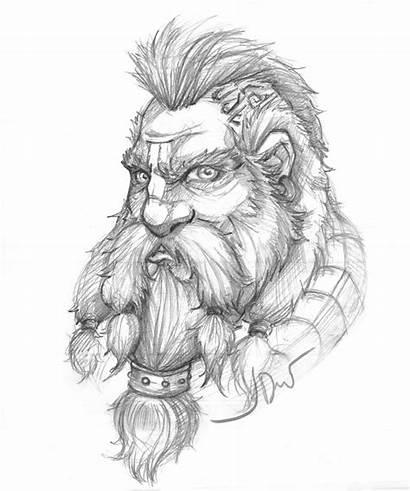 Hobbit Dwalin Mohawk Dwarf Drawings Drawing Young