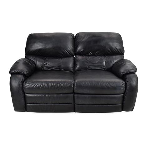 black leather loveseat 68 black leather reclining 2 seater sofas