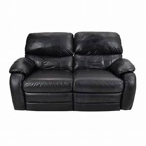 68 off black leather reclining 2 seater sofas With leather sectional sofa with 2 recliners