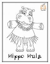 Coloring Pages Hippo Hula Printable Sing Hustle Story Baby Sheets Christmas Dancer Disegni Chicken Hoop Getcoloringpages Cha Hawaiian Song Therapy sketch template