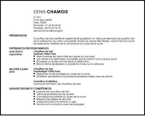 Taxi Driver Curriculum Vitae by Cv Chauffeur De Taxi Exemple Cv Chauffeur De Taxi