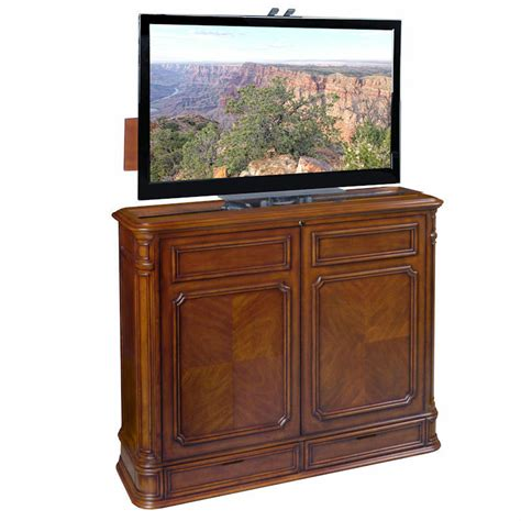 tv lifts cabinets pointe 360 swivel tv lift cabinet by tvliftcabinet