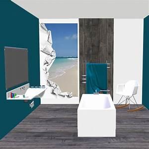 Décoration Murale Salle De Bain : d co murale piscine spa salle de bain d chirure sur plage ~ Teatrodelosmanantiales.com Idées de Décoration