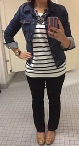 | Pretty Little Things Black Stripes and Blue Jean {jacket}