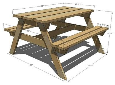 Picnic Bench Dimensions by White Preschool Picnic Table Diy Projects