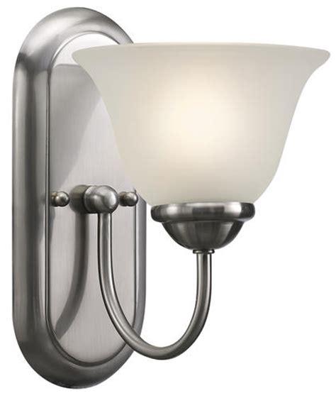 Menards Chrome Bathroom Lighting by Patriot Lighting 174 Irelyn 1 Light 9 78 Quot Brushed Nickel Wall