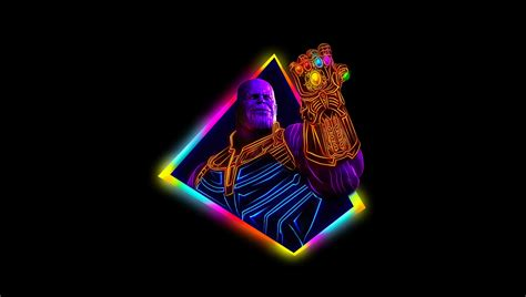 Thanos Avengers Infinity War 80s Style Artwork Hd Movies
