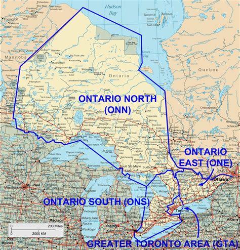 canada map ontario
