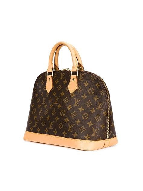 louis vuitton signature tote  beige brown lyst