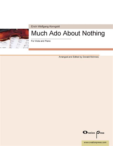 much ado about nothing modern script new viola arrangements from donald mcinnes string visions from ovation press