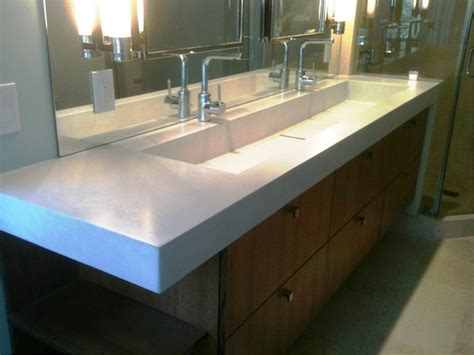 One Sink With Two Faucets by Bathroom Fabulous Trough Sink For Bathroom And Kitchen