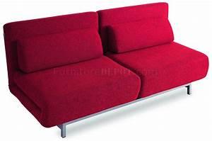red fabric modern sofa bed w metal legs With red modern sofa bed