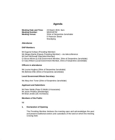 management meeting agenda templates  sample