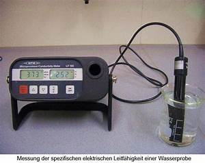 Elektrische Leitfähigkeit Berechnen : parameter zur beurteilung einer wasserprobe ~ Themetempest.com Abrechnung