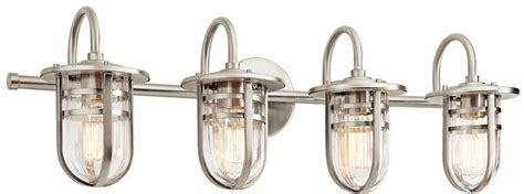 kichler bathroom lighting fixtures kichler 45134ni caparros contemporary brushed nickel 4 18959