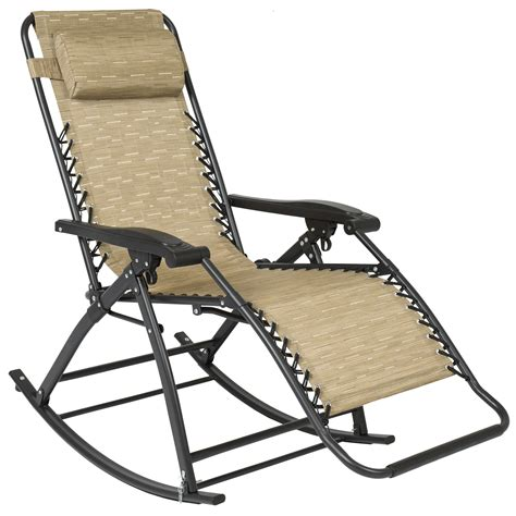 Best Patio Chairs by Best Choice Products Zero Gravity Rocking Chair Lounge