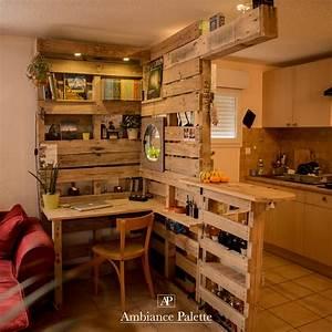Meuble De Cuisine En Palette : meuble cuisine bar bureau bibliotheque ambiance palette ~ Dode.kayakingforconservation.com Idées de Décoration