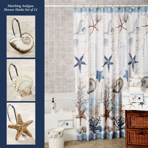 coastal shower curtains antigua starfish coastal shower curtain