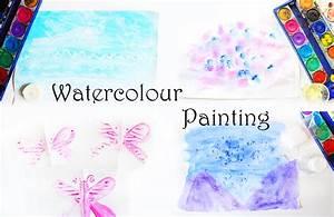 Malen Mit Kleinkindern Ideen : 5 ideen zum malen mit wasserfarben f r kinder video ~ Watch28wear.com Haus und Dekorationen