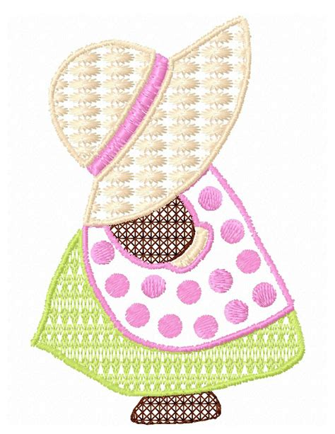 sunbonnet sue applique sunbonnet sue applique and fill stitch