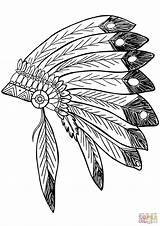 Feather Coloring Native Indian Headdress Drawing Indians Headress Clipart Clip Printable Choctaw Sheets Vector Nation Trace Drawings Dreamcatcher Feathers Onlinelabels sketch template
