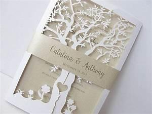 laser cut wedding invitation tree laser cut by With laser cut wedding invitations cricut