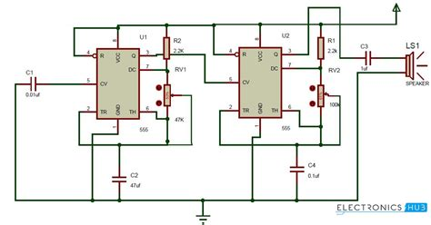Ding Dong Sound Generator Door Bell Circuit Using Timer