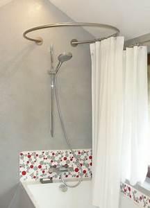 Barre De Douche Arrondie : barre rideau douche arrondie ~ Premium-room.com Idées de Décoration