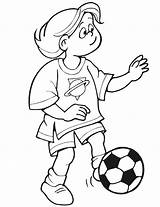 Sports Foot Coloring Pages Son Ball Kicking Football Printactivities Drawings Star Printable sketch template