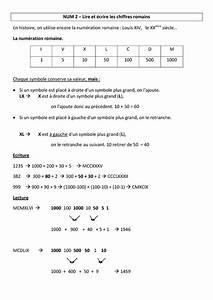 Chiffre Romain De 1 A 50 : lire et crire les chiffres romains le on cm1 cm2 num ration math matiques cycle 3 ~ Melissatoandfro.com Idées de Décoration