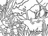 Hunting Coloring Deer Pages Hunter Printable Cool2bkids Getcolorings sketch template