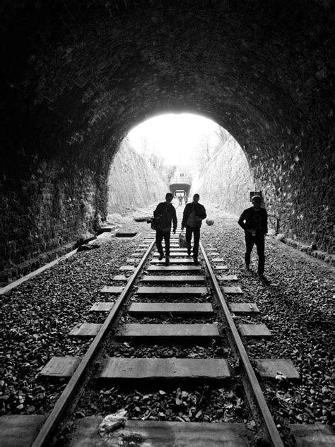 train tracks  black white bw pinterest track