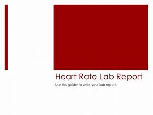Heart Rate Lab Report