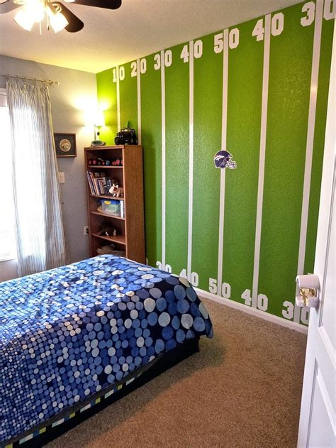 breathtaking american football themed kids room design