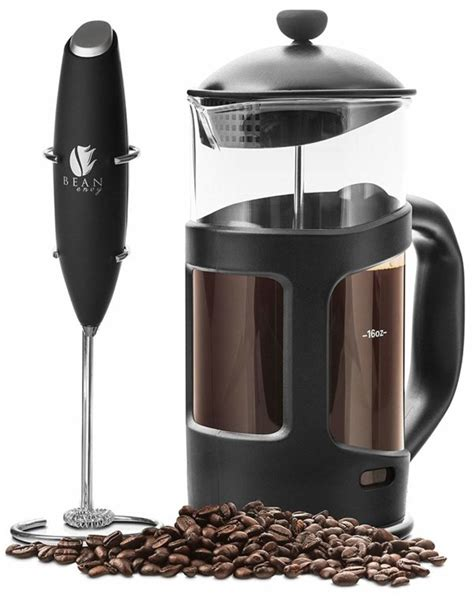 3 weeks old used once vintage cream colour instructions included selling as not used nespresso capsule coffee machine with milk frother like new coffee machine and milk frother. Bean Envy French Press Coffee Maker with Milk Frother - Coffee Like A Barista