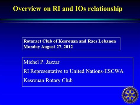 rotary  international organizations authorstream