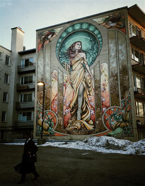 Most Mural Artists by In Montreal Notre Dame De Gr 226 Ce Mural Travel