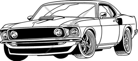 muscle car car show black  white clipart clipart kid