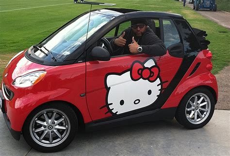 Chargers Dt Antonio Garay Drives Hello Kitty Smart Car