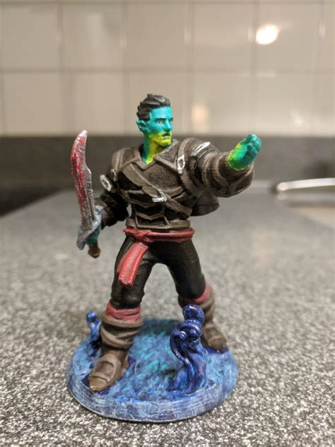 Fjord Dnd by No Spoilers Fjord 3d Printed And Painted 2x Scale