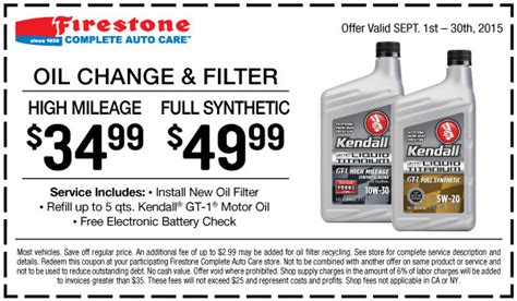Cost Of Synthetic Oil Change At Sears