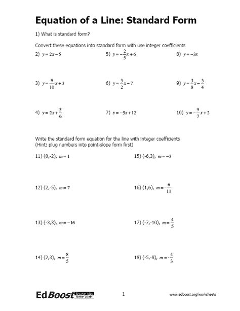 Writing Linear Equations Inequalites Edboost