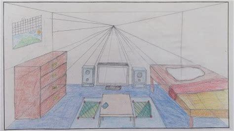 一点透視図法を使って、部屋のデザインをしました。