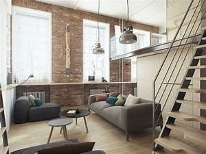 Small, Apartment, Design, For, A, Young, Couple, With, Minimalist, Concept, Ideas
